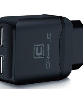 Зарядка Cafele на 2 USB 2.4a