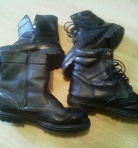 Ботинки зимние,натур.кожа