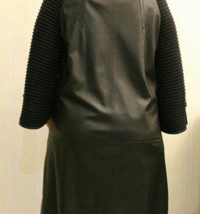 Женская кожаное пальто