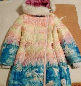 Пальто зимние на девочку