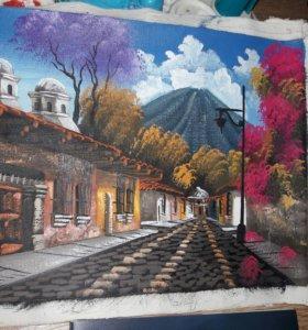 Гватемала Картина маслом 18×23