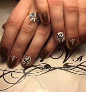 Маникюр, покрытие ногтей гель лаком. Дизайн.