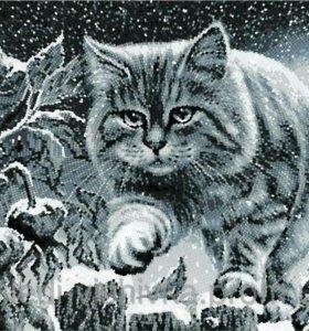 """схема под бисер """"Лунный кот"""""""