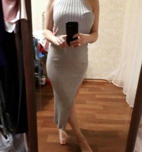 Платье облегающее с люрексом