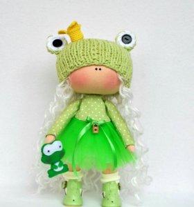 Интерьерная кукла лягушонок