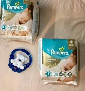 Памперсы Premium Care (2-5 кг) 2 упаковки