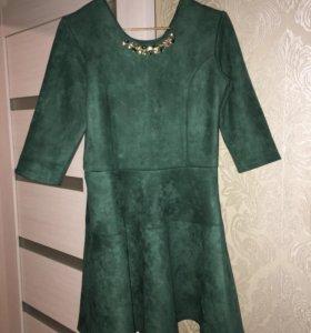 Платье замша 44-46