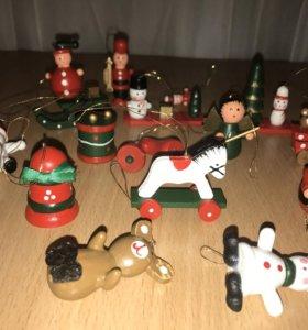 елочные игрушки деревянные