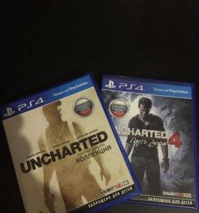 Uncharted коллекция и uncharted 4 PS4