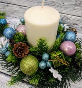 Новогодняя свеча, декор для дома
