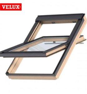 Мансардное окно VELUX+ оклад в комплекте 78см х 11