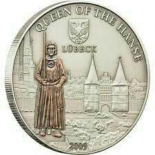 Монета серебряная 5$ 2009 года