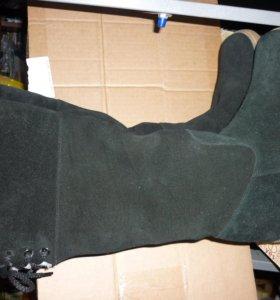 Новые зимние замшевые сапоги 36 размера (23,5 см)