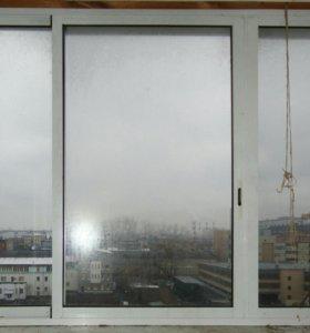 Окна с балкона б/у по цене договоримся
