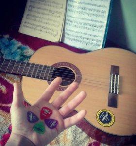 Акустические гитары без чехолНормальное состояние