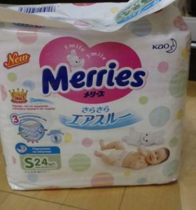Памперсы Merries s