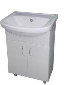 Тумба для ванны и зеркало и раковина