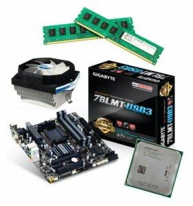 Игровая сборка FX-4350 + мать + 4гб DDR3 + куллер