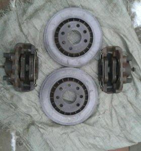 Суппорт передний ,диск тормозной опель вектра б в