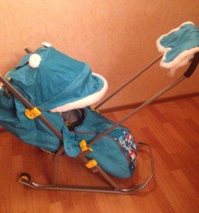 Новые санки-коляска
