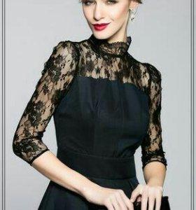 Платье с кружевом (новое)