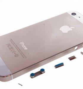 Задняя крышка Apple iPhone 5S (золото)