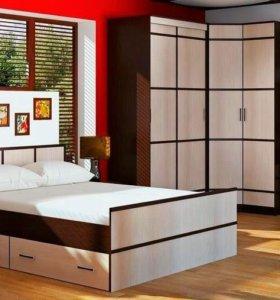 Кровать 160 с ящиками и основанием.