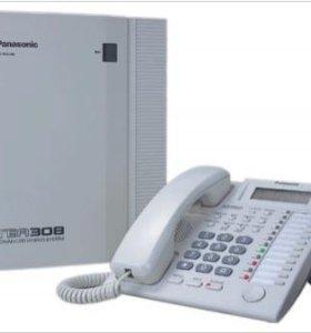 Мини АТС Panasonik TEB-308 + системный телефон