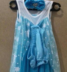 Платье праздничное из 3х