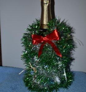 Елочки украшение на шампанское