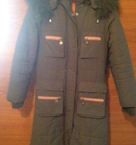 Тёплое пальто на девочку