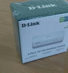 Коммутатор d-link des-1005a новый