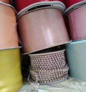 Атласная лента разных цветов