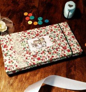 Романтичный скетчбук ручной работы