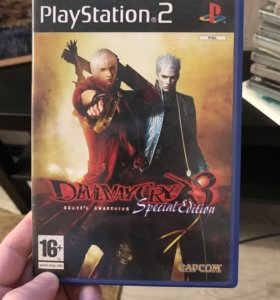 Диск на PlayStation 2 Devil May Cry 3 лицензия