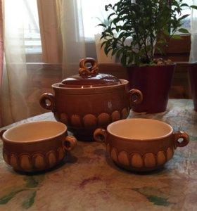 Супница и бульонницы