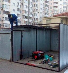 Металлический гараж-пенал