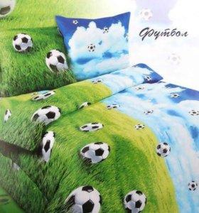 КПБ 1,5 сп «Футбол» поплин 3D