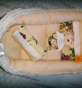 Новый кокон+ одеяльце+подушечка+сплюшка