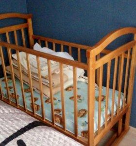 Дет.кроватка+матрац+комплект