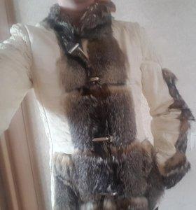 Куртка кожанная б/у