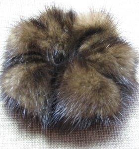 меховушки для волос *резинки*
