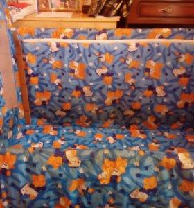 Кроватка детская. С рождения до 6 лет.