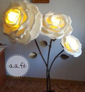 Ростовые цветы, торшеры