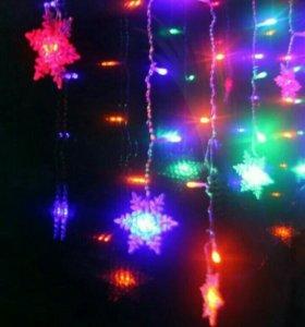 Гирлянда штора новогодняя