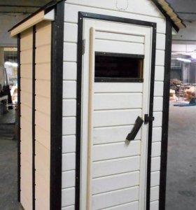 Деревянный дачный туалет