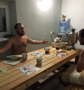 русская баня на берегу реки