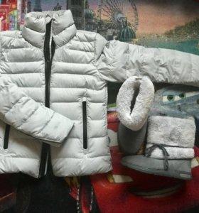 Комплект зимняя куртка и сапоги Adidas