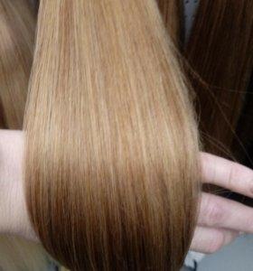 Волосы русые 125 прядей 65-70 см