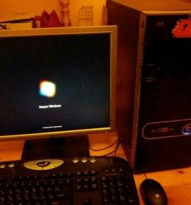 Компьютер 2х ядер жк монитор весь комплект